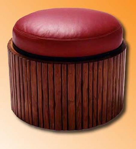 Applied pole ottoman round