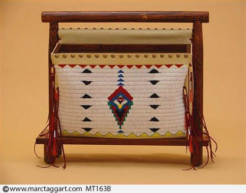 MT163B-Beaded Magazine Rack
