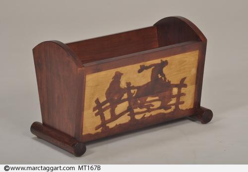 MT167B-WoodenMagazineRack