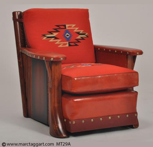 MT29A-ClubChairWithExoticWoodPanel