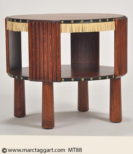 MT88 Side Table with Half Rounds and Trim