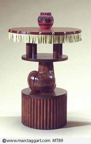 MT89-Round Three Tier Table with Fringe, 24