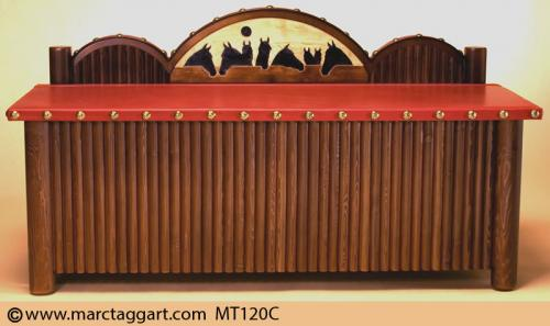 MT120C-Horses-Looking-over-the-fence-Blanket-Chest